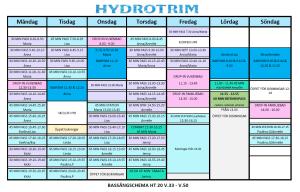 Hydrotrim Bassängschema VT2019